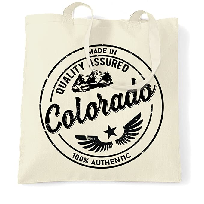 Hometown Pride Tote Bag Made In Colorado Stamp Natural One Size