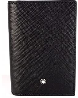 6f2e5acbf7 Amazon.com: Montblanc Meisterstuck Unisex Large Black Leather Card ...