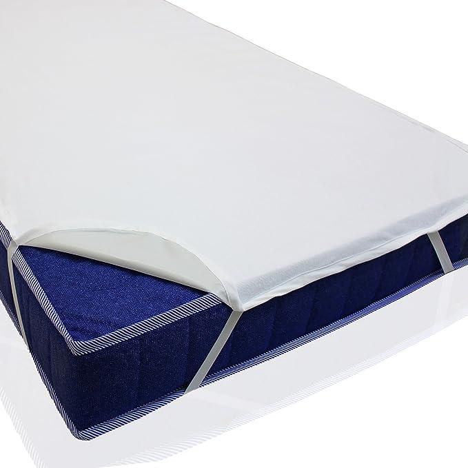 sinnlein® Wasserdichte atmungsaktive Molton Betteinlage 11 Größen wählbar 100% Baumwolle Matratzenschoner Matratzenauflage (9