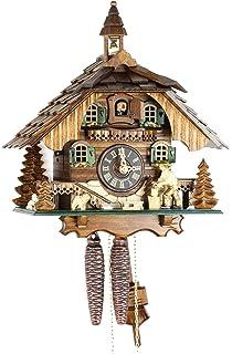 Original Negro bosques Cuco Reloj de madera auténtica, mecánica de 1 día de unidad y