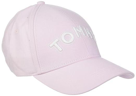 Tommy Hilfiger Tommy Patch Cap, Gorra de béisbol para Mujer, Rosa (Silver Peony