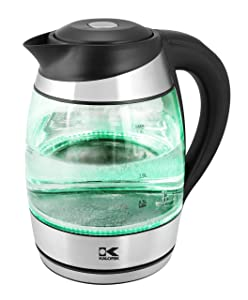 Kalorik JK 42656 BK Digital w Lights LED Water Kettle, Black
