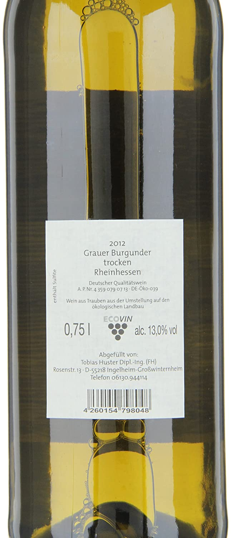 Weingut Huster Grauburgunder QbA Bio (6 x 0.75 l): Amazon.de: Bier ...
