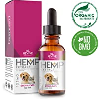 Organic Hemp Oil Extract for Dogs & Cats - 125MG - Helps Relief Joint Pain, Anxiety & Hips Pain for Dog & Cat. Pets Calming Treats. Full Spectrum Hemp Extract, Natural Arthritis Supplement.