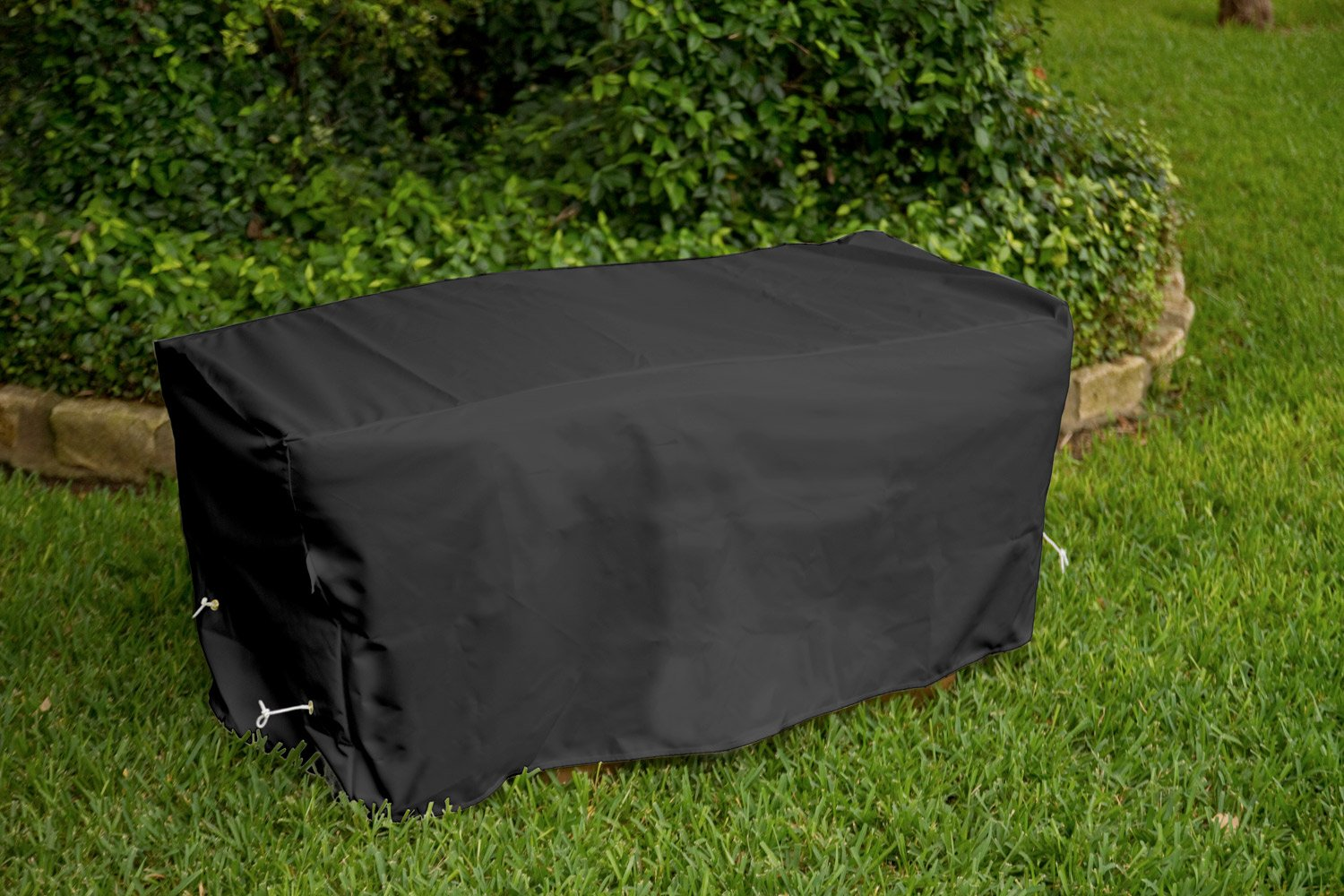 KoverRoos Weathermax 74207 8-Feet Bench Cover, 96-Inch Width by 25-Inch Diameter by 36-Inch Height, Black by KOVERROOS (Image #4)