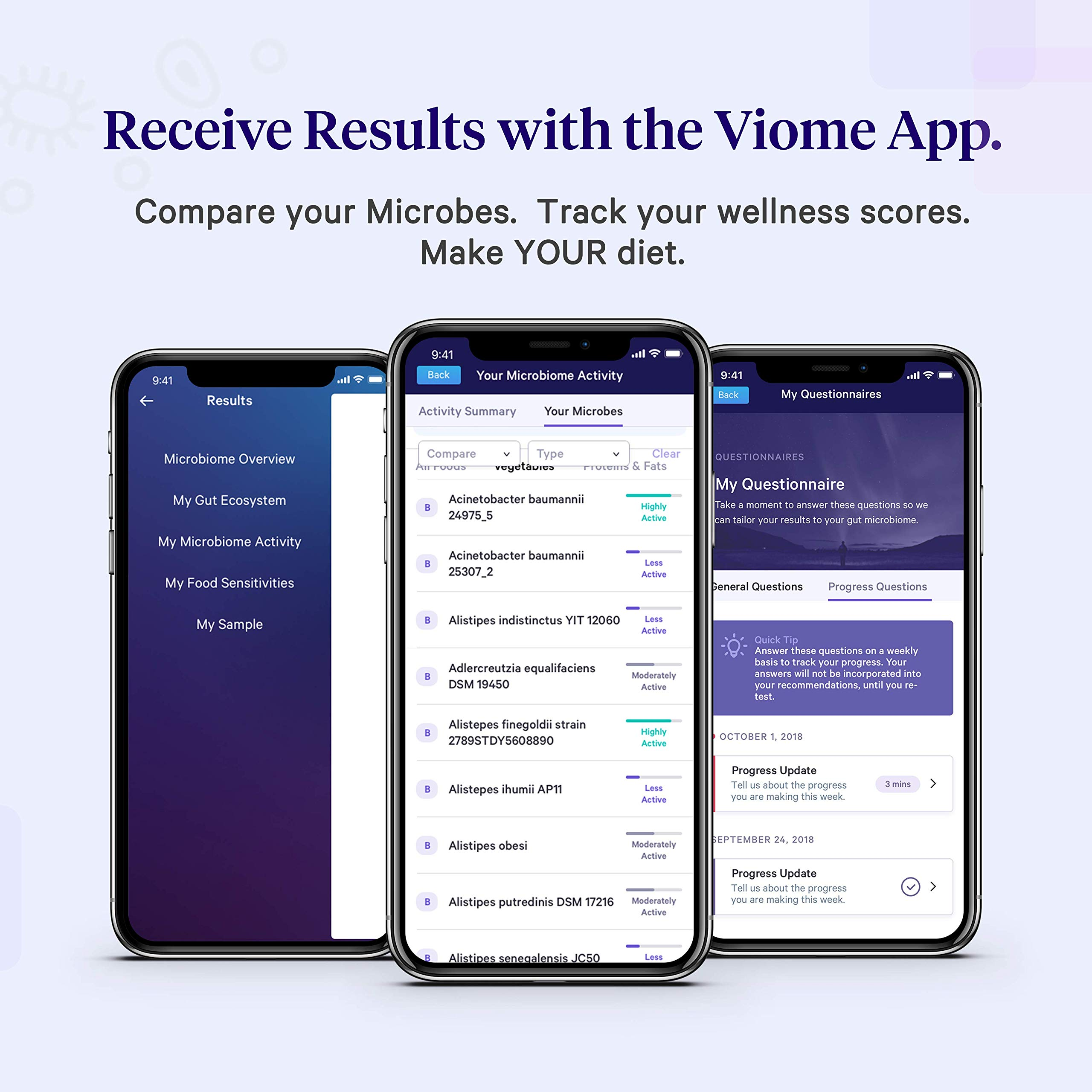 Viome at-Home Gut Microbiome Test   Science Based Personalized Recommendations for Food, Prebiotics & Probiotics   Weight Loss   Improve Digestion   Enhance Sleep   Clear Skin   Boost Mental Focus by Viome (Image #5)