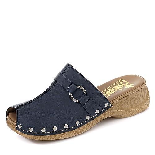 scarpe casual 2019 reale elegante nello stile Rieker 65062 Donna Zoccoli di Legno,Zoccoli,Pantofole in ...