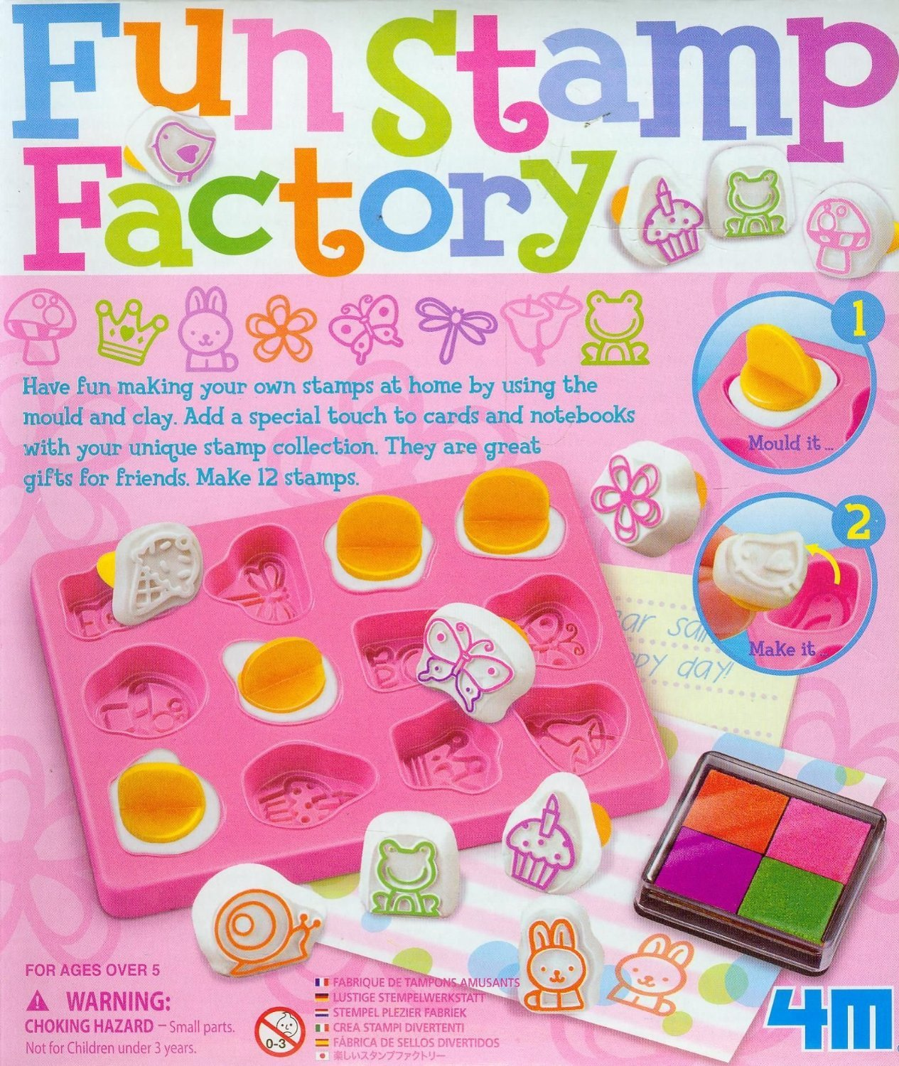 Jardines Online Warehouse Fun little project - No 1 Selling Boys & Girls Gift Idea For Christmas or Birthday Age 5+ Fun Stamp Making Kit