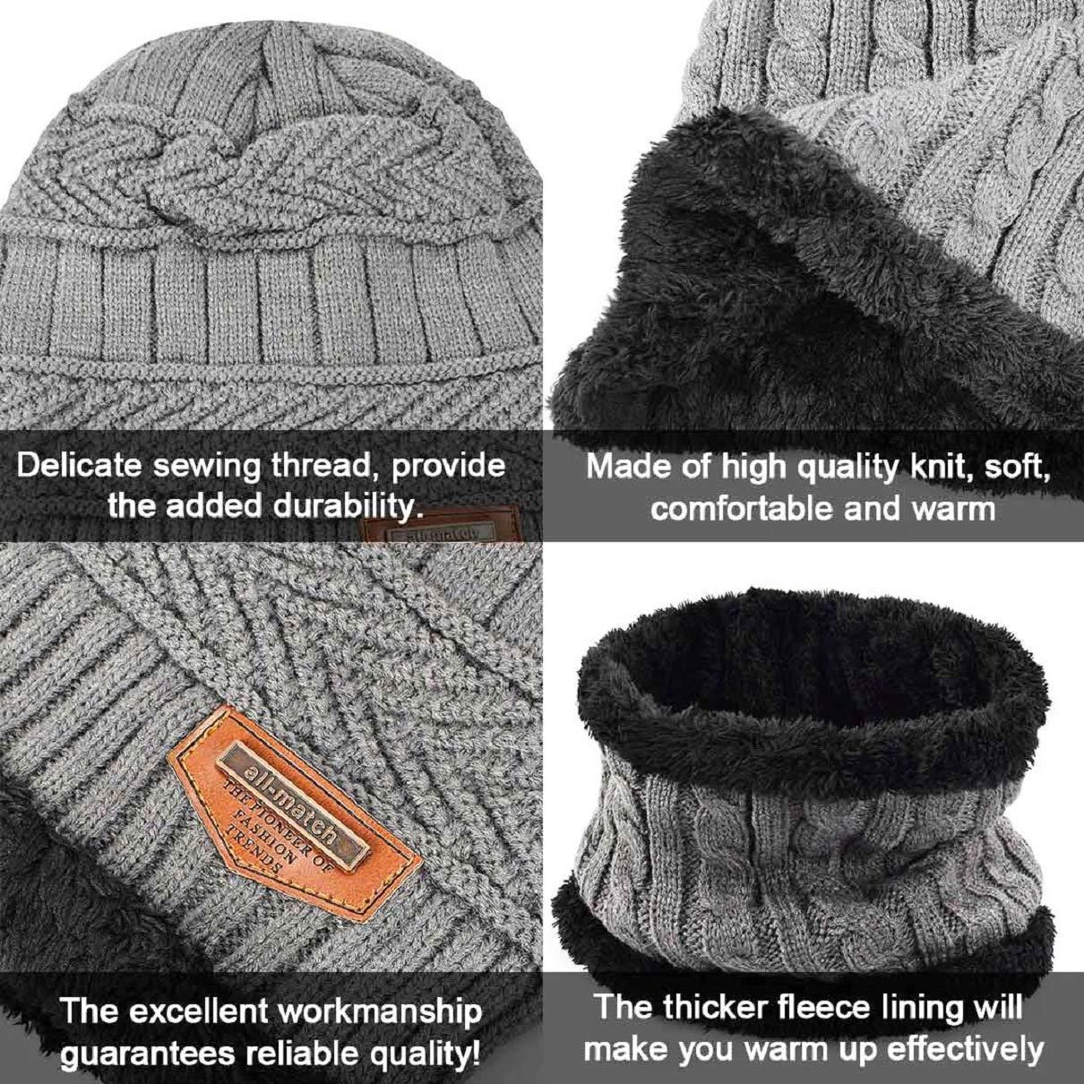 sciarpe lavorato a maglia guanti e sciarpa berretto corsa camminata scaldacollo set invernale con cappello Voqeen guanti per escursionismo