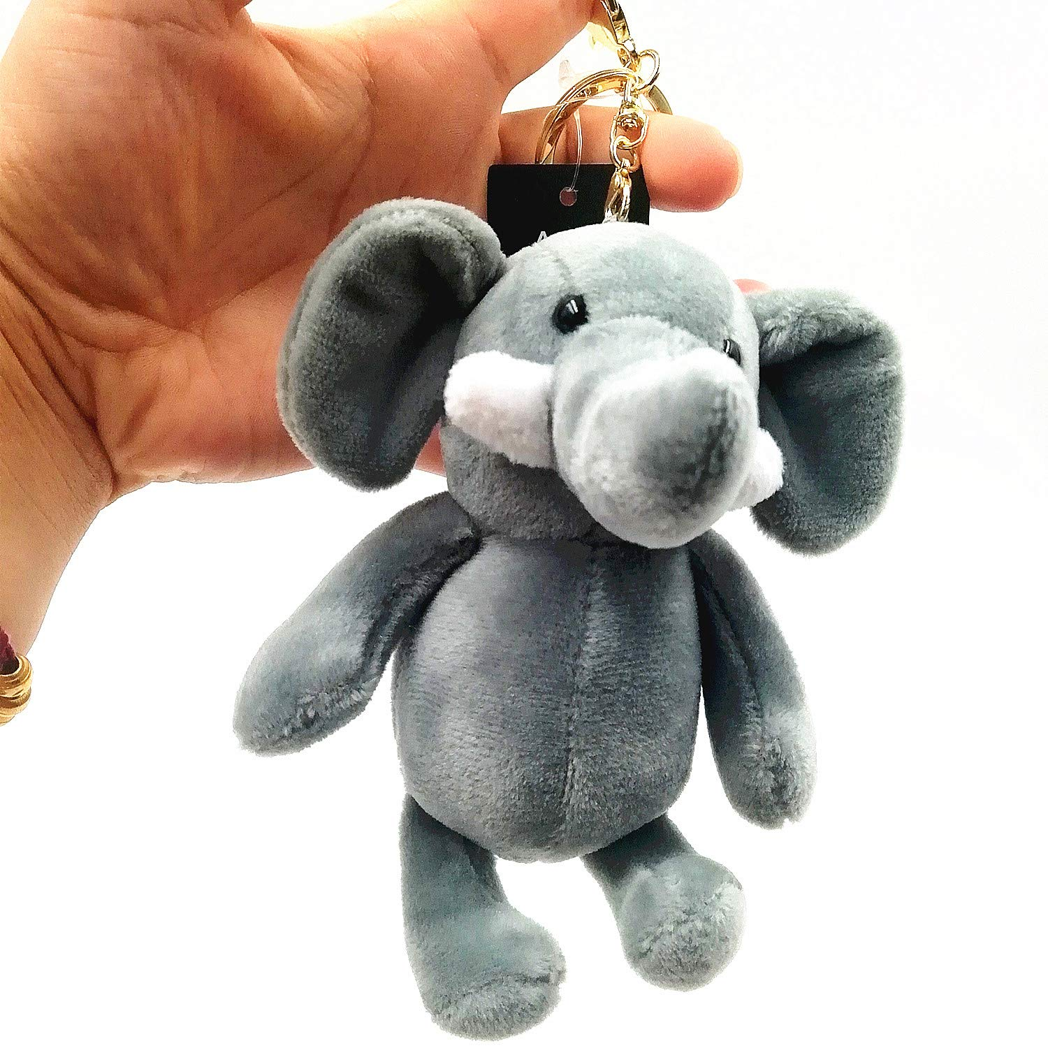 OF Cute Elephant Plush Toy Keychain Doll Key Ring Bag Pendant OldFriendtoolshop