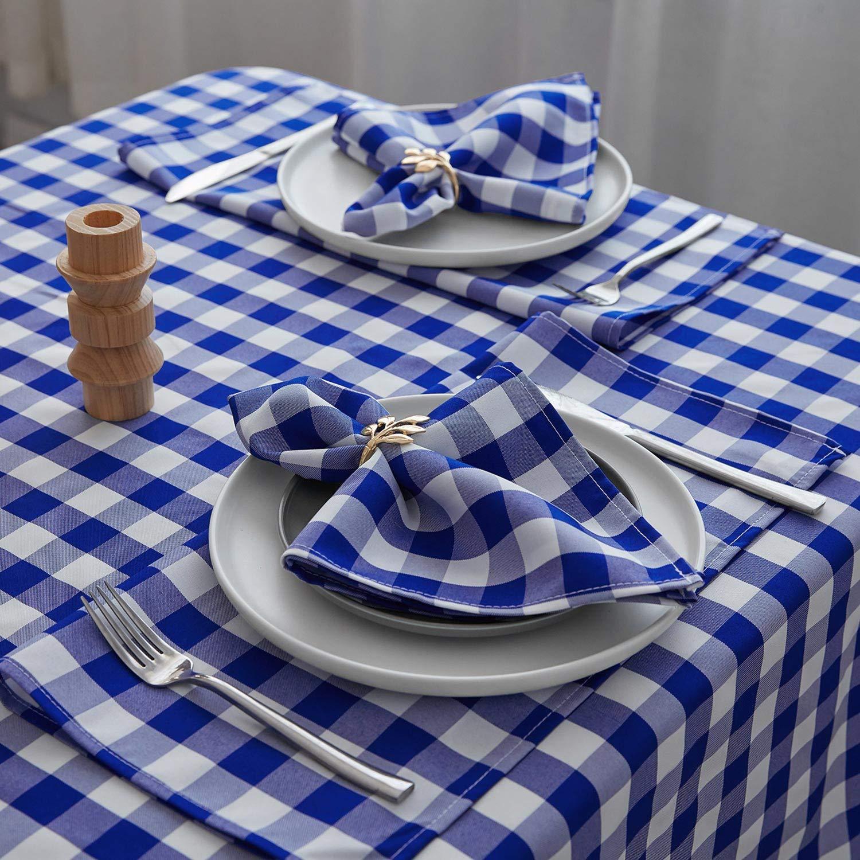 Caribe, 43x43 cm VEEYOO Poli/éster Servilletas de Tela Set de 12 Piezas Servilletas Suaves Lavable y Reutilizable Servilleta para Restaurante Banquete Bodas
