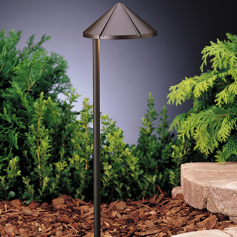 Kichler Lighting 15315azt Six Groove Low Voltage One Light Path Lamp Textured Architectural Bronze Finish Amazon Com