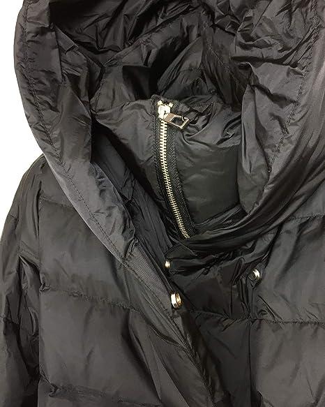 Zara - Abrigo - Plumaje - para mujer Negro negro X-Large: Amazon.es: Ropa y accesorios