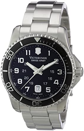 Swiss Army Watch >> Amazon Com Victorinox Swiss Army Men S 241436 Maverick Stainless