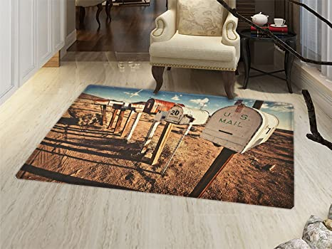 Amazon.com : smallbeefly United States Door Mats Area Rug Old ...