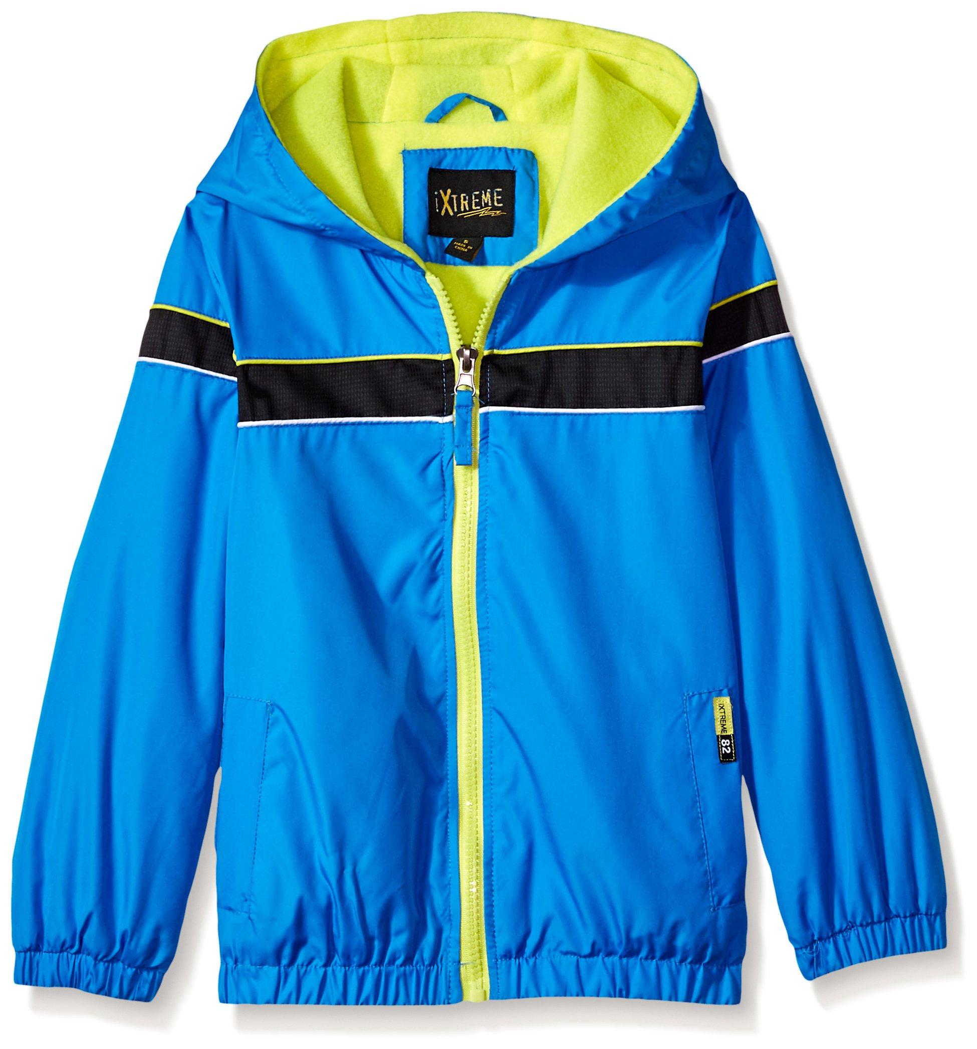 iXtreme Toddler Boys' Colorblock Jacket with Fleece Lining, Blue, 2T