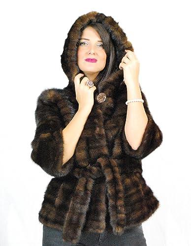 42 Mink fur jacket with demi hood pelz nerz pelliccia visone норка fourrure vison