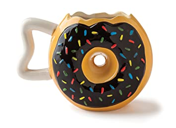 f3e96973334 BigMouth Inc The Original Donut Mug, Ceramic 14oz, Chocolate Frosting with  Sprinkles, Funny Coffee, Tea, Hot Chocolate Mug Gift