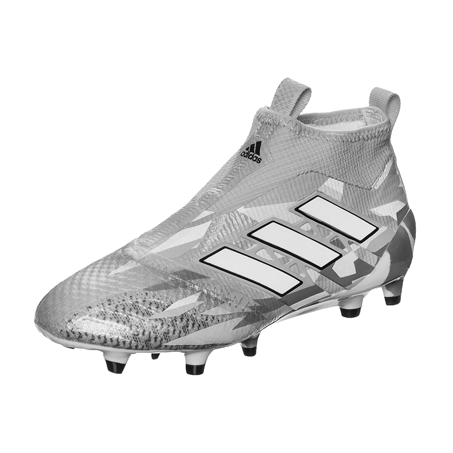 new styles ee081 0d544 Ace 17+ Pure Control Kids FG Football Boots - Clear Grey White Core Black -  Size 5.5  Amazon.co.uk  Shoes   Bags