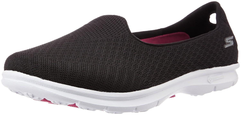 Skechers Go Step-Elated Damen Sneaker Slipper Schwarz  US 5 | UK | EU 35|Black/White