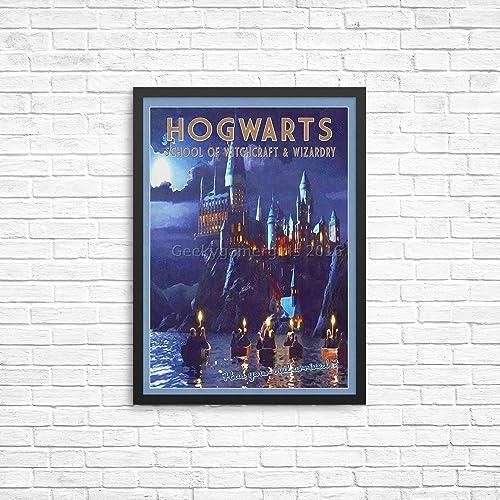 Amazon com: Hogwarts Travel Poster | Harry Potter poster