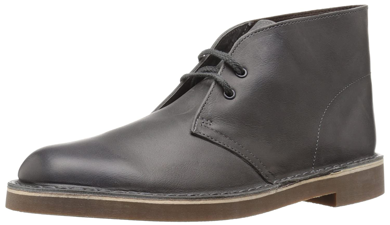 Amazon.com | Clarks Men's Bushacre 2 Chukka Boot, Grey Leather, 7 M US |  Shoes