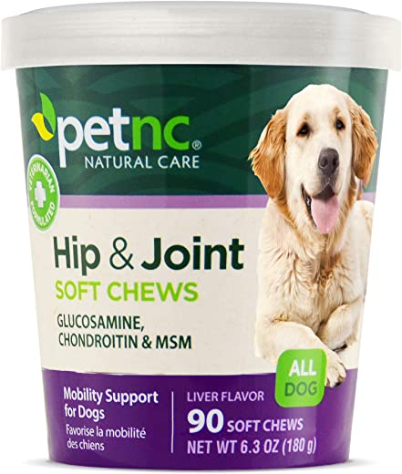 PetNC Natural Care Hip and Joint Soft Chews for Dogs,...