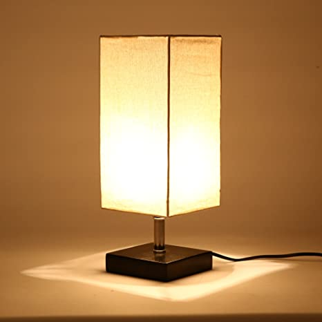 Buy mm table lamp bedside desk lamp with off white fabric shade mm table lamp bedside desk lamp with off white fabric shade solid wooden base minimalist mozeypictures Choice Image
