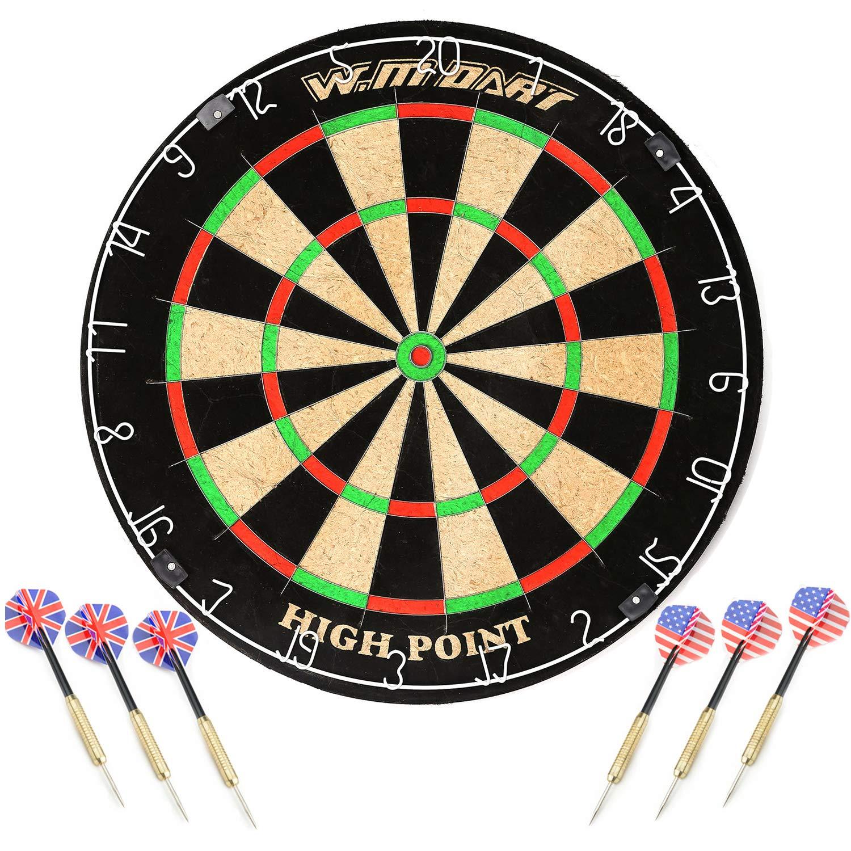WIN.MAX Blade 18'' Bristle Dartboard Steel Tip Dart Board with Flights, Finger Grip Wax, Darts (18'' Bristle Dartboard) by WIN.MAX