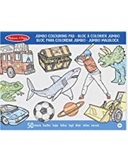 Melissa & Doug Jumbo 50-Page Kids Coloring Pad Paper; Oversized Sheets; Space, Sharks, Sports, and More; 0.635 cm H x 27.94 cm W x 35.56 cm L