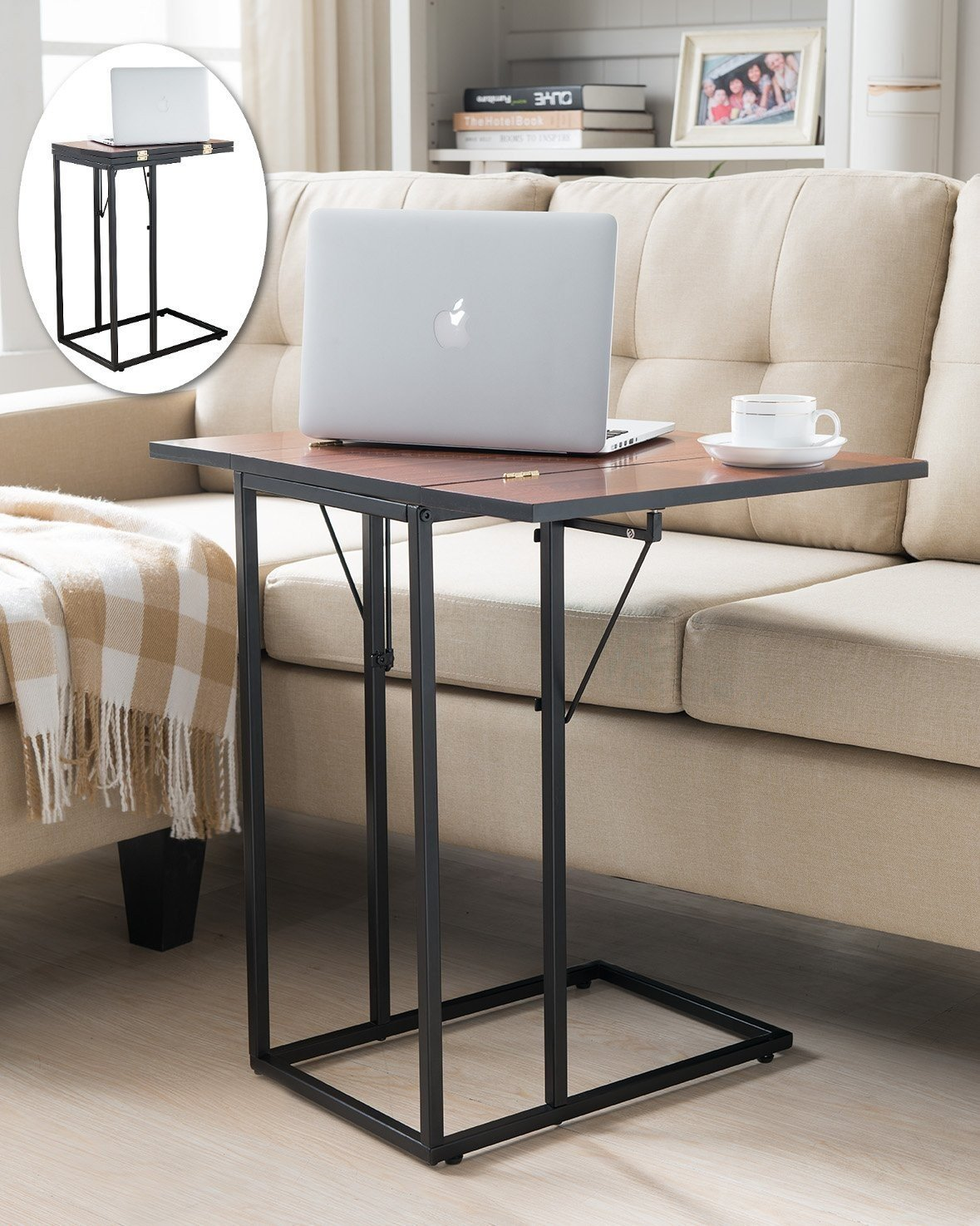 Indoor Multi-function Accent table Study Computer Desk Bedroom Living Room Modern Style End Table Sofa Side Table Coffee Table Magazine Snack Sofa Table