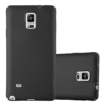 Cadorabo Funda para Samsung Galaxy Note 4 en Metal Negro - Cubierta Protección de Plástico Duro Super Delgada e Inflexible con Antichoque - Case Cover ...