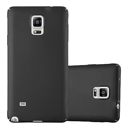 Cadorabo Hülle für Samsung Galaxy Note 4 - Hülle in Metall SCHWARZ – Hardcase Handyhülle im Matt Metal Design - Schutzhülle B