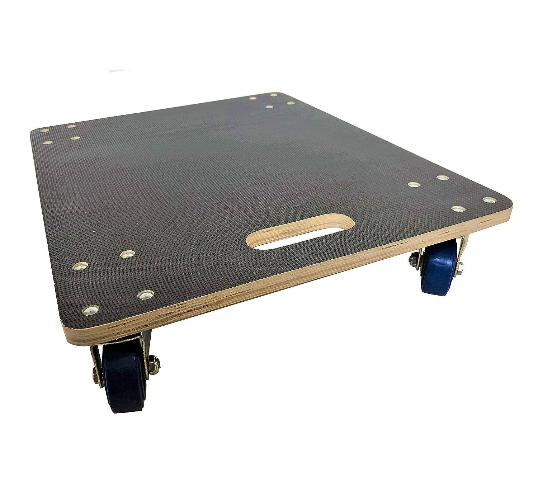 Non-slip rectangular 590x490mm moving removals skate dolly swivel wheels 400kg LC