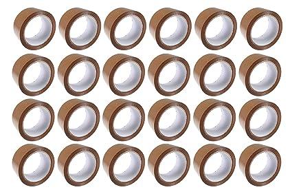 48 mm x 66 m sicuro e appiccicoso resistente 12 rotoli di nastro adesivo resistente per imballaggi per pacchi e scatole