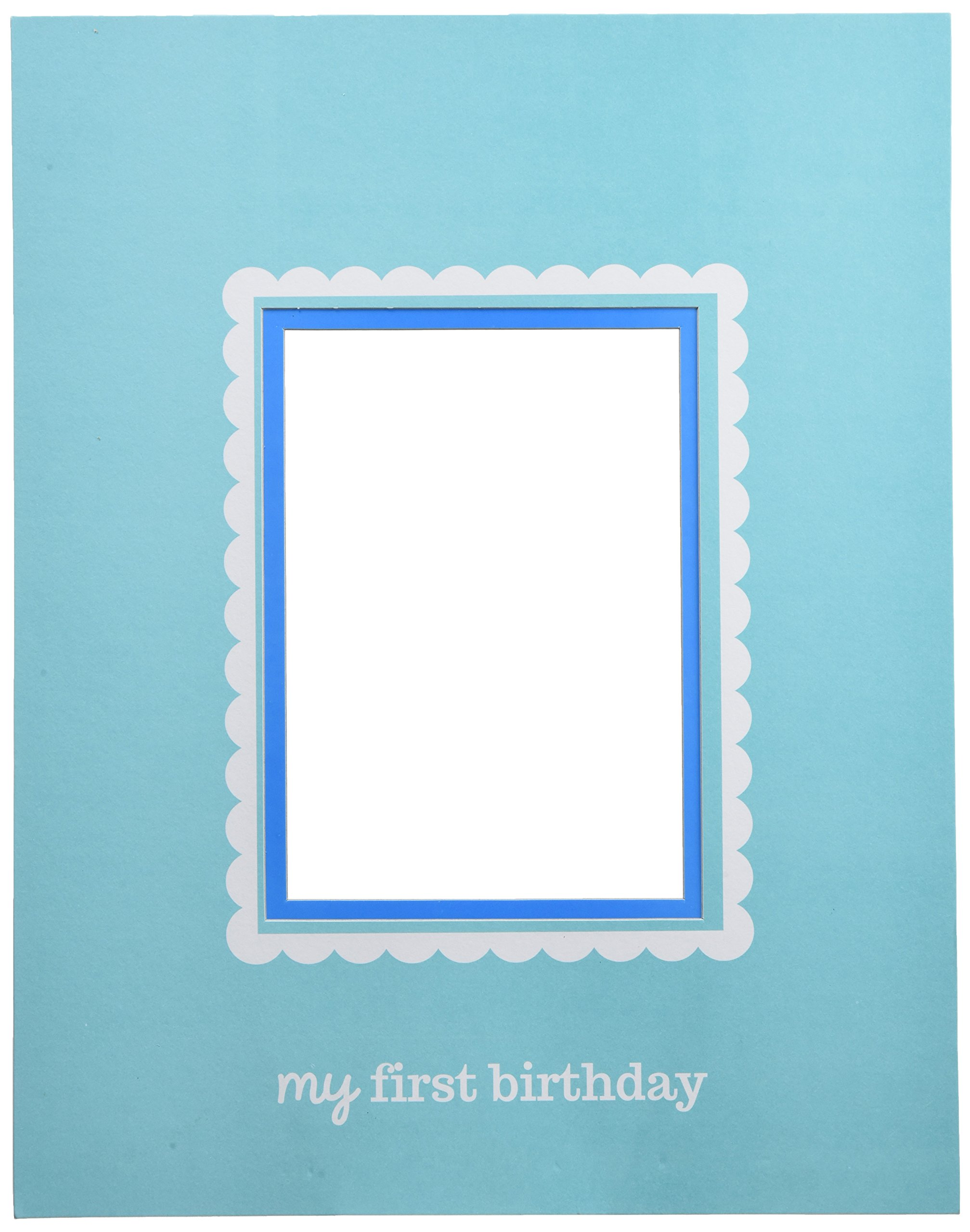 Little Buddy Boys' 1st Birthday Party Autograph Photo Frame, Blue, 14'' x 11'', Pack of 1