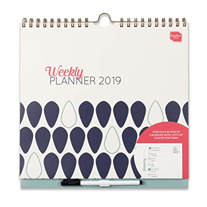 Boxclever Press 2019 Weekly Planner. Calendario de pared semanal con un espacio grande para cada día. Planificador semana vista ideal para parejas o ...