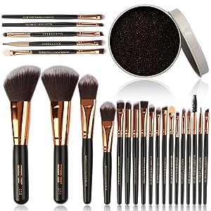 Rocaran Premium Makeup Brush 22pcs, Foundation Mixed Concealer, Blush Eye Shadow Brushes, Make Up Brush Set Cosmetic Brushes With 1 Cleaning Box