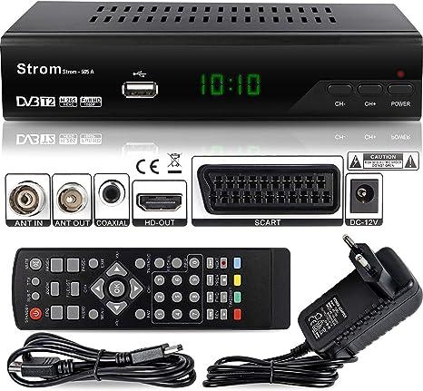 Strom 505 Decodificador HD TDT – / HDMI et Scart / H.264 / H.265 HEVC / DVBT - T2 / MPEG2 / MPEG4: Amazon.es: Electrónica
