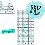 """Not Overpriced, Quilting Ruler 6"""" x 12"""" Inch. Clear and Accurate HD Design. for Quilt´s Sewing Template Rotary Cutter"""