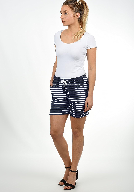 9e0b1d927e3 Desires Lena Short En Sweat Bermuda Pantalon Court Pour Femme Extensible  Coupe Relaxed
