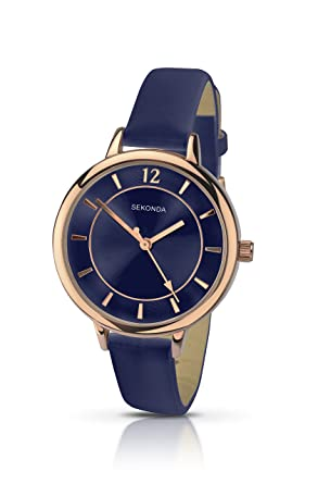 1af2f0a6aa53 Sekonda Women's Quartz Watch with Blue Dial Analogue Display and Blue PU  Strap 2136.27: SEKONDA: Amazon.co.uk: Watches