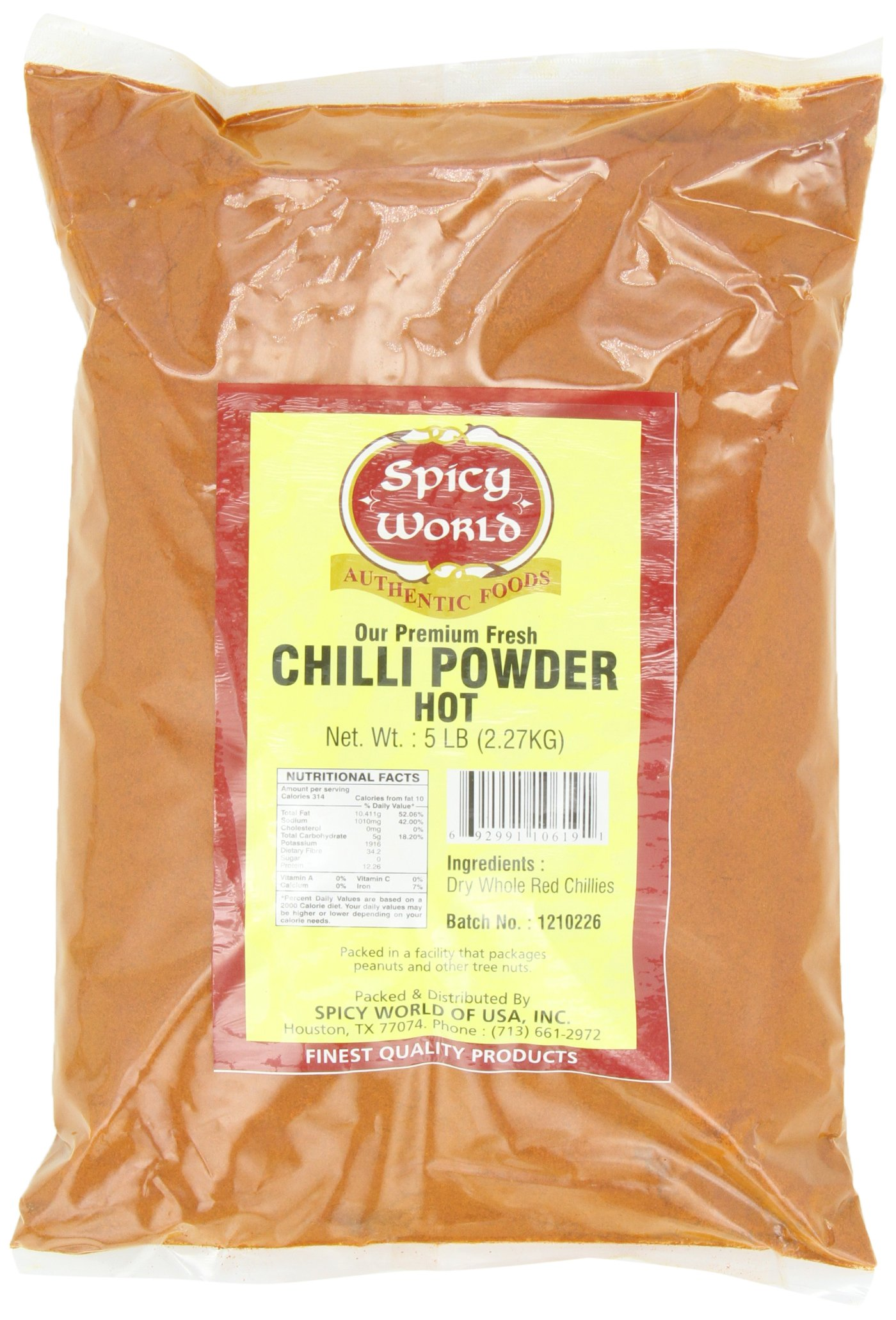 Spicy World Hot Chilli Powder Bulk, 5-Pounds