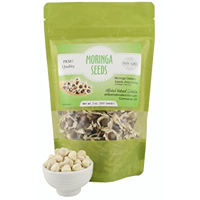 Moringa Oleifera Seeds Non-GMO PKM1 Premium Quality - Organically Grown - 3 oz. (300 Seeds Approximately) Resealable Stand Up Pouch : Garden & Outdoor