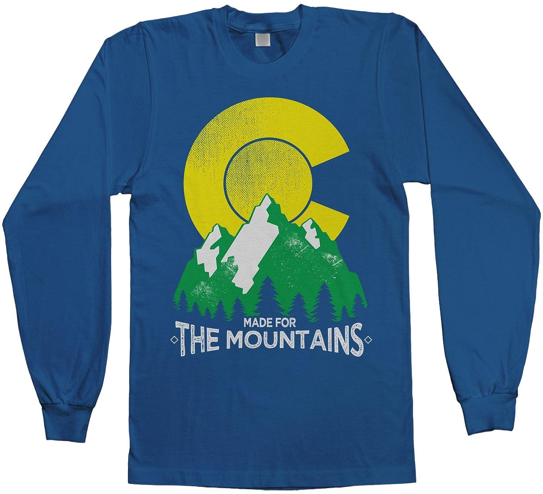 6de3a016abc0 Amazon.com: Threadrock Men's Made for The Mountains Colorado Long Sleeve T- Shirt: Clothing