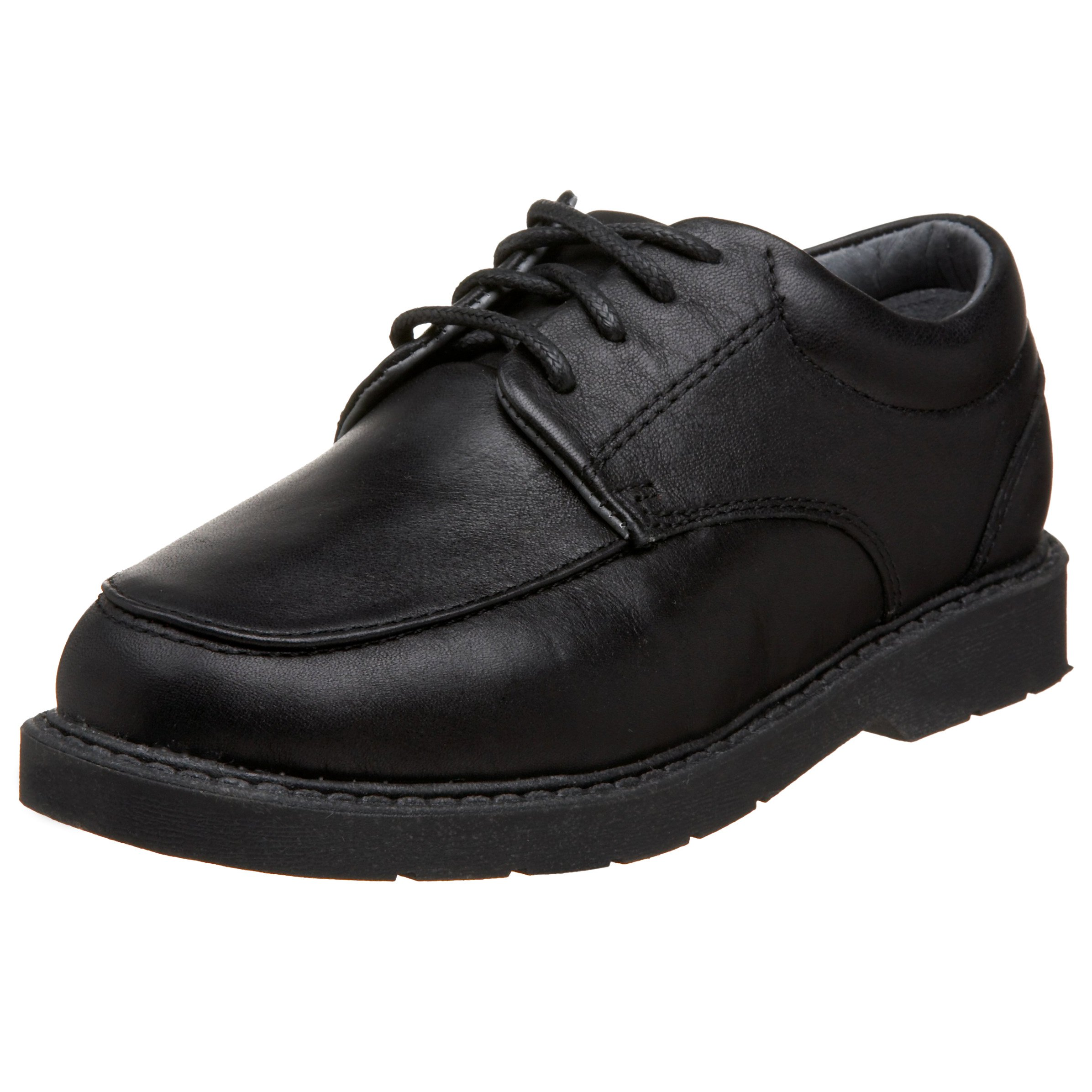 School Issue Graduate 5300 School Uniform Shoe (Toddler/Little Kid/Big Kid),Black Leather,4 W US Big Kid