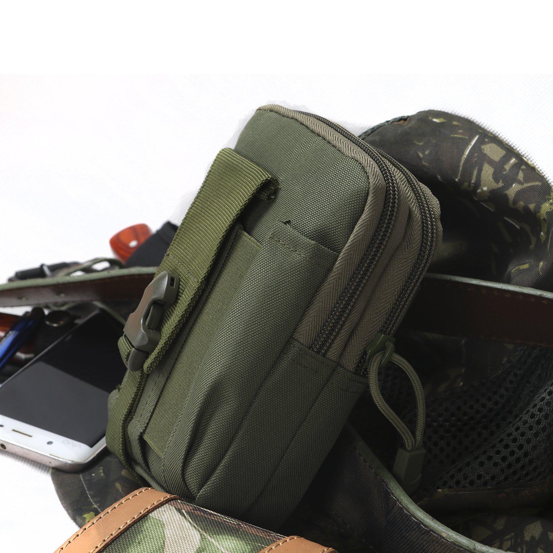 Tourbon universale Compact Outdoor tattico multiuso copertura smartphone Holster Edc sicurezza confezione custodia per il trasporto della cintura marsupio soldi gadget per outdoor trekking campeggio ciclismo caccia Runing