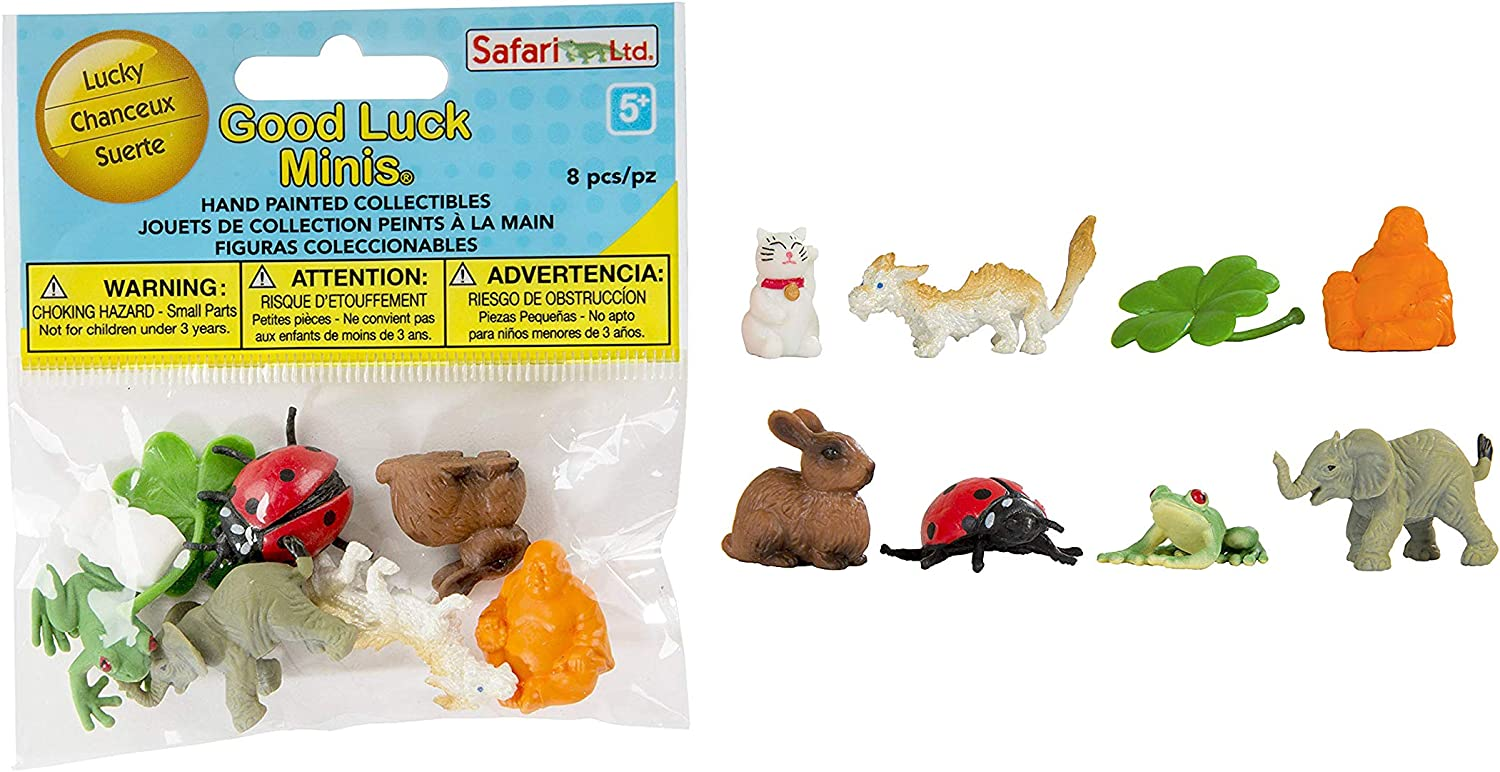 Safari Ltd Phthalate Good Luck Minis Fun Pack Lead and BPA Free 8 Pieces for Ages 5+ 100225 Coral Reef