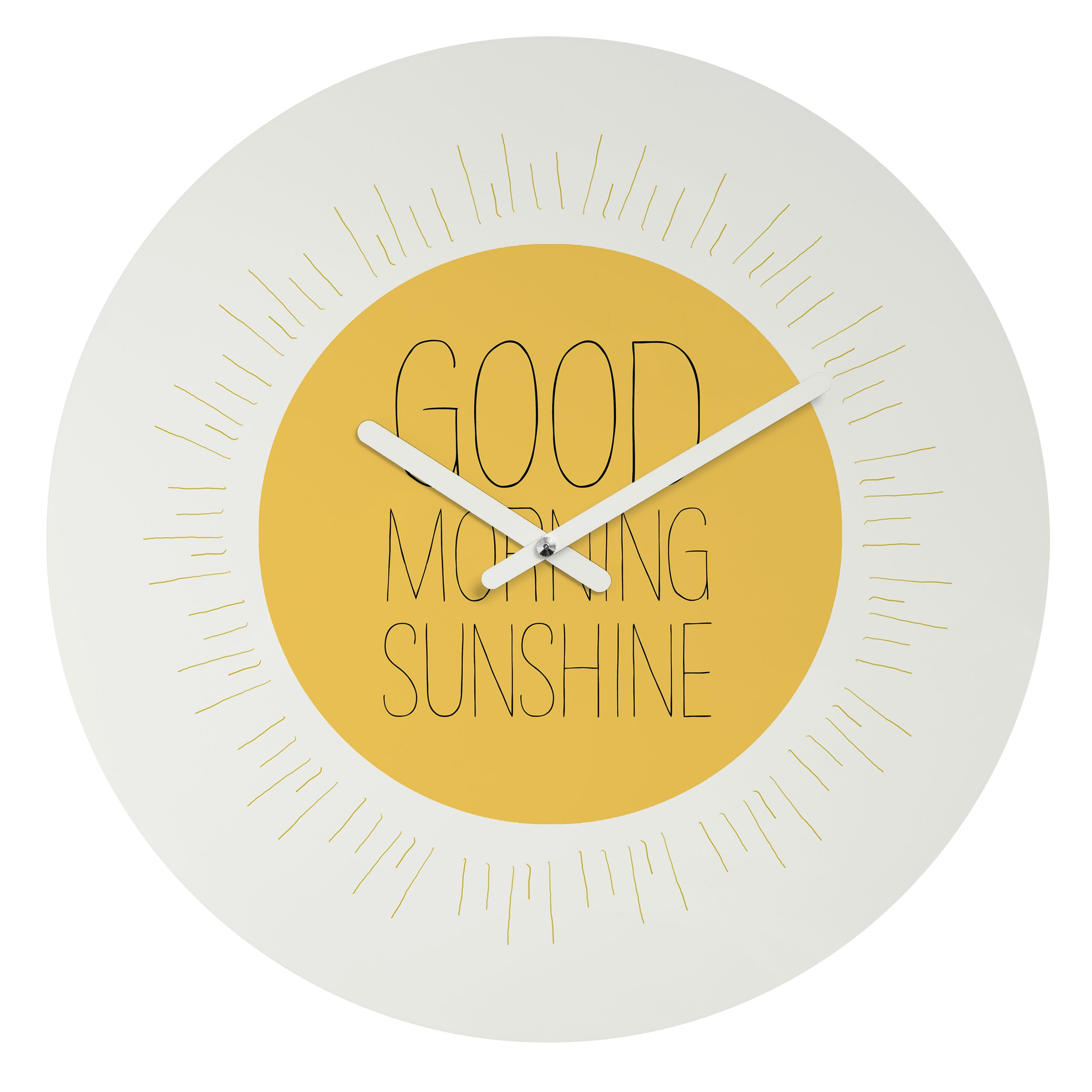 Deny Designs  Allyson Johnson, Morning Sunshine , Round Clock, Round, 12'' by Deny Designs