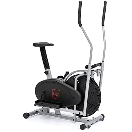 e59fa781aa87 Image Unavailable. Image not available for. Color: Best Choice Products  Elliptical Bike 2 In 1 Cross Trainer Exercise Fitness Machine ...